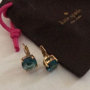 Kate Spade Leverback Turquoise-Colored Earrings